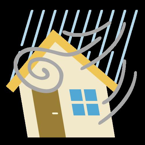 台風(災害)の無料アイコン・イラスト素材
