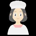 割烹着を着ている女性の無料アイコン・イラスト素材