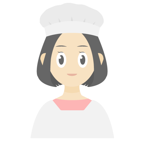割烹着を着ている女性