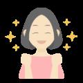喜んでいる女性の無料アイコン・イラスト素材