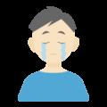 悲しんでいる男性の無料アイコン・イラスト素材