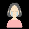 悲しんでいる女性の無料アイコン・イラスト素材