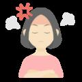 怒っている女性の無料アイコン・イラスト素材