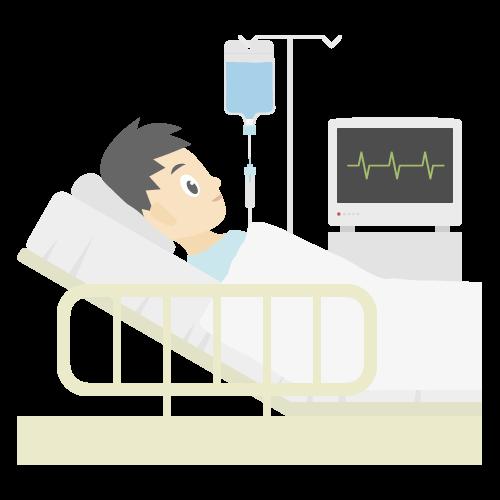 入院の無料アイコン・イラスト素材