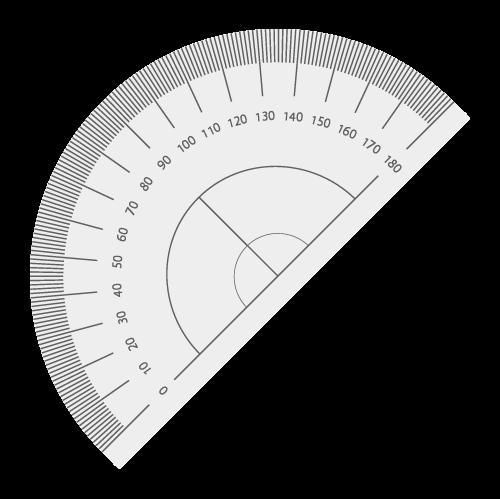 分度器の無料アイコン・イラスト素材