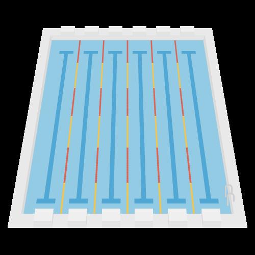 プールの無料アイコン・イラスト素材