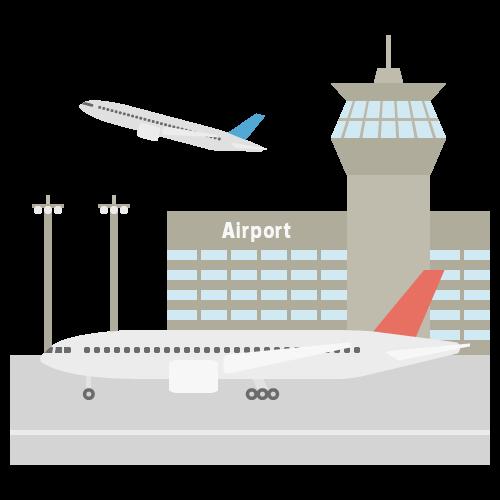 空港の無料アイコン・イラスト素材