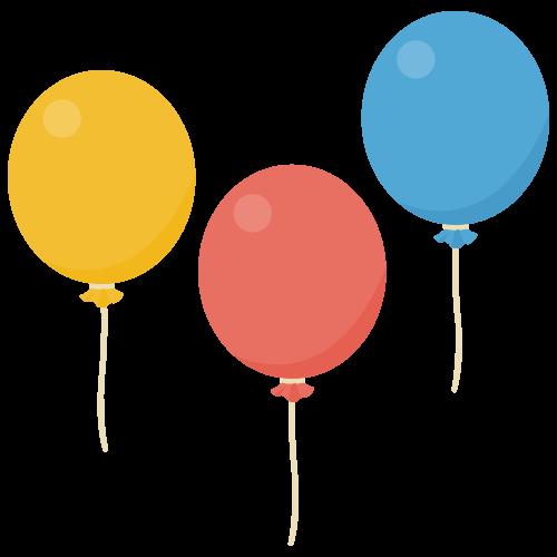 風船の無料アイコン・イラスト素材