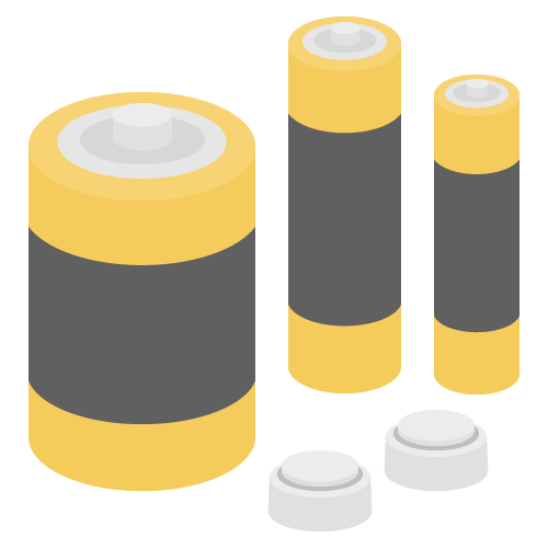乾電池の無料アイコン・イラスト素材